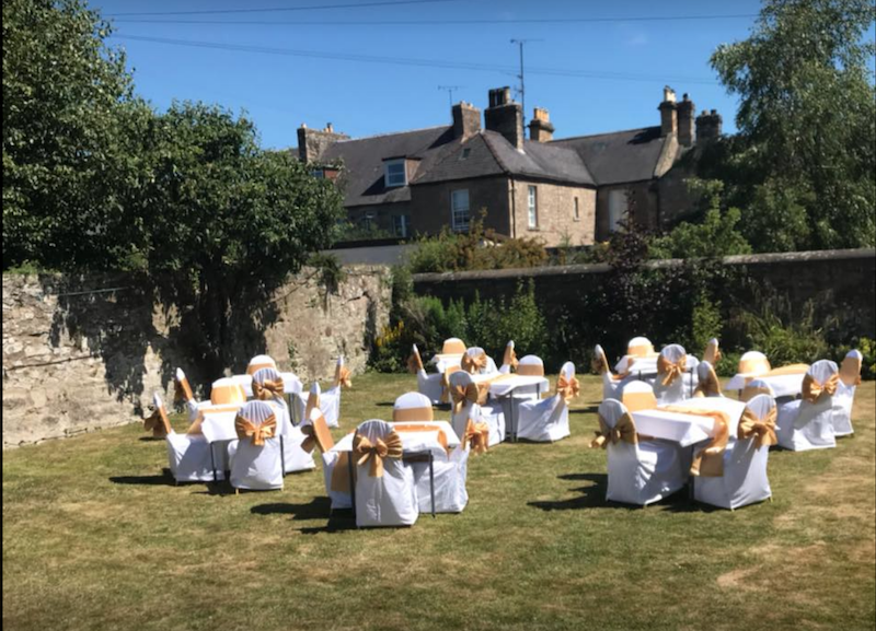 Wedding garden set up